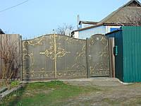 Кованые ворота В-56, фото 1