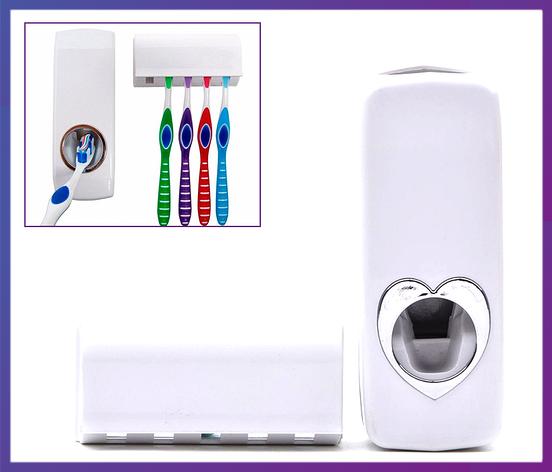 Автоматический дозатор зубной пасты и держатель щеток Kaixin KX-889, фото 2