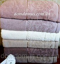"Полотенце ""Clara"" Lux Cotton  90*150 Philippus 6 шт./уп.,Турция 836"