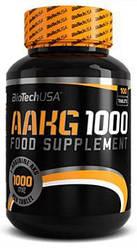 Аргинин BioTech USA AAKG 1000 100 tabs