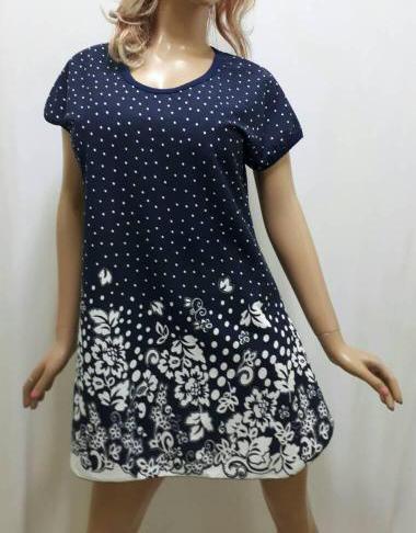 Туника, домашнее платье, размеры 48,50,52