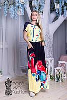 Летнее НАРЯДНОЕ женское Платье размеры 48-56 код 1747-2