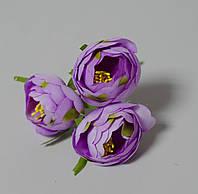 Цветок пиона светло-фиолетового ткань 3 шт