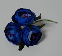 Цветок пиона ткань 3 шт