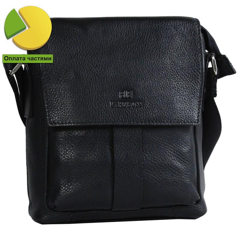 Мужская кожаная сумка через плечо черная от Итальянского бренда Lare B