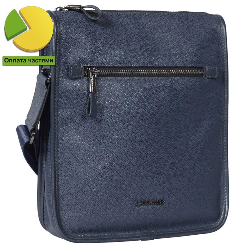 Мужская кожаная сумка синяя от Итальянского бренда Lare Boss LB0060115