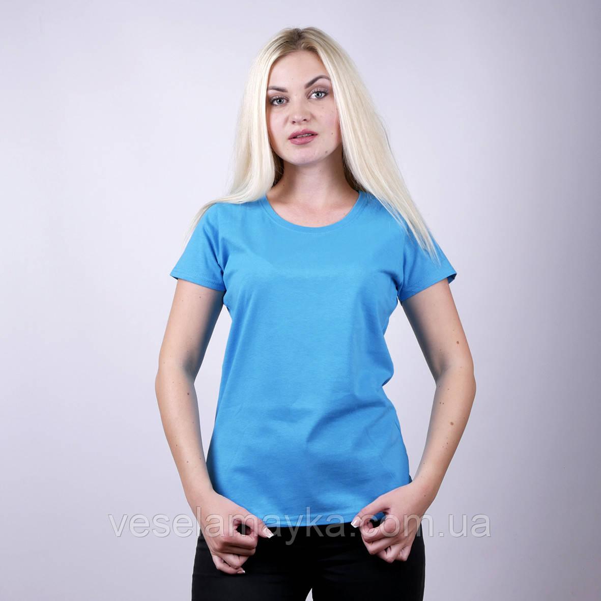 Бірюзова жіноча футболка (Комфорт)