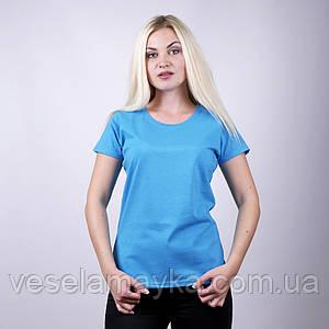 Бирюзовая женская футболка (Комфорт)