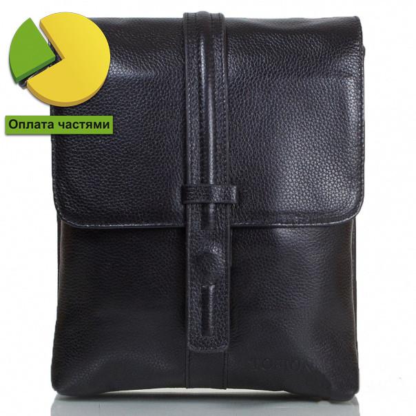 Небольшая мужская кожаная сумка черная Tofionno TF000W020-31