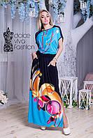 Летнее НАРЯДНОЕ женское Платье размеры 48-56 код 1747-1, фото 1