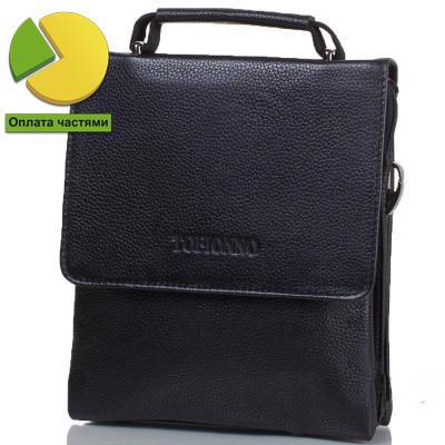 Мужская кожаная сумка-барсетка черная высокого качества Tofionno TF00W