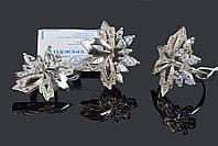 Серебряный крупный комплект Искра, фото 1