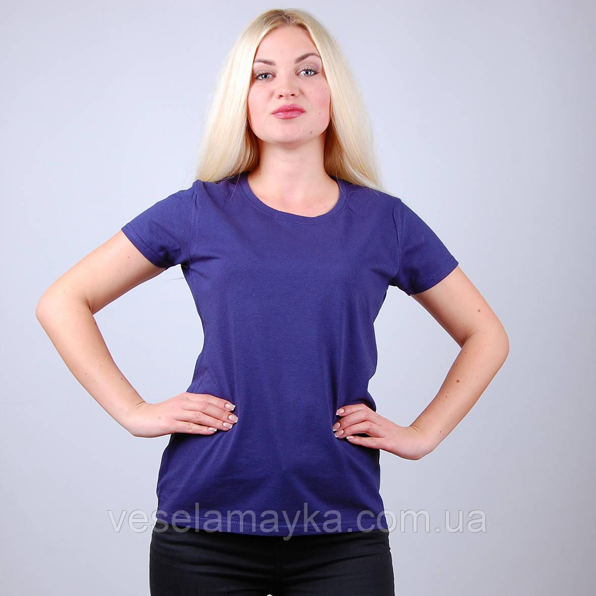 Темно-синя жіноча футболка (Комфорт)