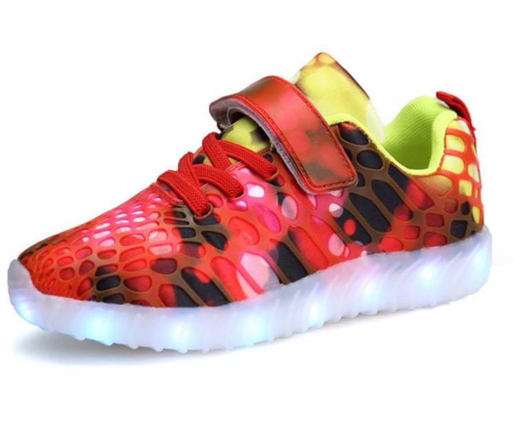 Светящиеся детские led кроссовки, Разноцветные кроссовки, Хорошие кроссовки