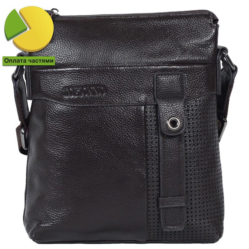 88ef0523427a Мужская сумка из 100% натуральной кожи Tofionno TF00619-20921 коричнев