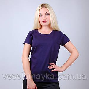 Глубоко-темно синяя женская футболка (Комфорт)