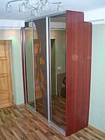 Шкаф купе с рисунком на зеркале бронза