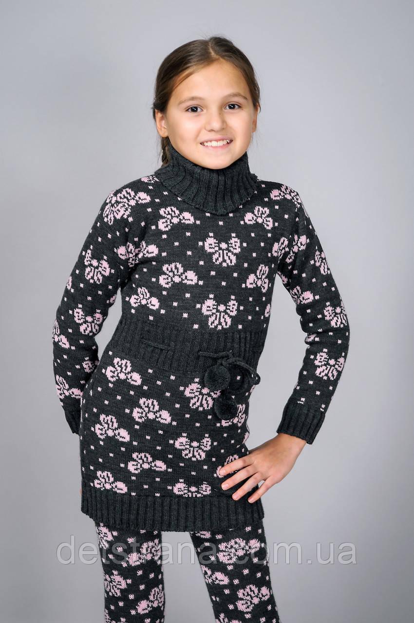 Вязанная туника для девочки