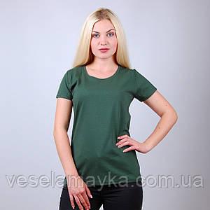 Темно-зеленая женская футболка (Комфорт)