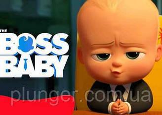 """Вафельная картинка для торта """"Босс молокосос. Boss baby"""", прямоугольная, (лист А4)"""