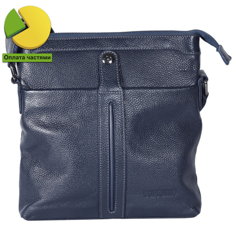 Повседневная мужская кожаная сумка синяя от Tofionno TF00619-32031
