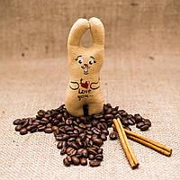 Кофейная мини-игрушка Vikamade Зайка на магните, фото 1