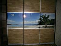 Шкаф купе с фотографией на дверях
