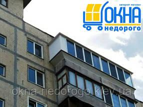 Балкон с выносом косынкой по подоконнику, фото 3
