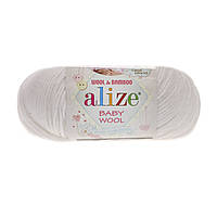 Alize baby wool - 55 белый