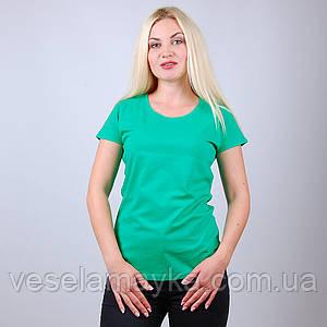 Зеленая женская футболка (Комфорт)