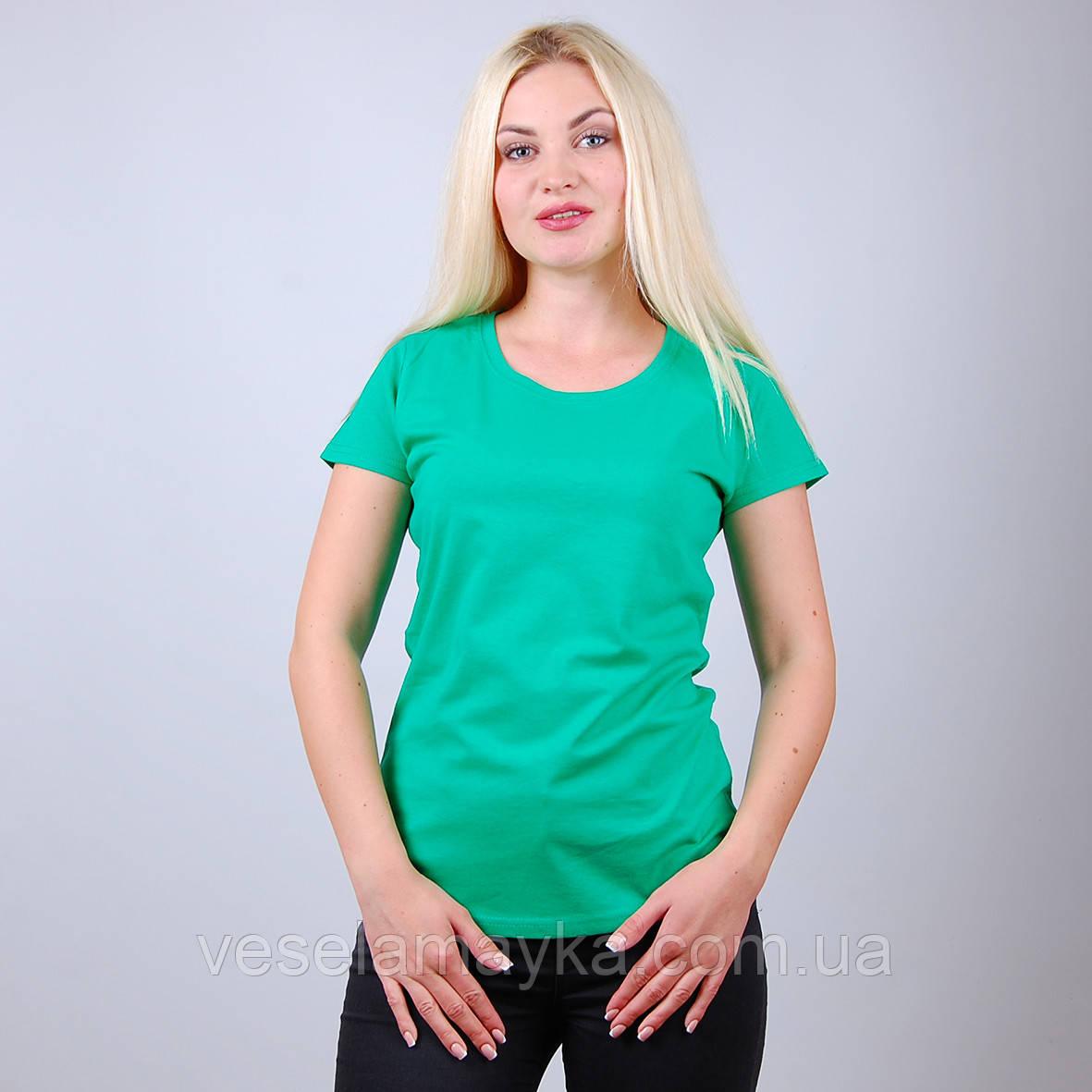 Зелена жіноча футболка (Комфорт)