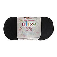 Alize baby wool - 60 черный