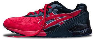 Мужские кроссовки Asics Build Up (Асикс) черно-красные
