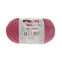 Alize baby wool - 33 темно-розовый