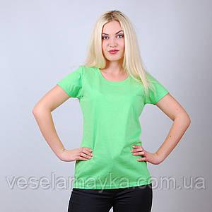 Ярко-салатовая женская футболка (Комфорт)