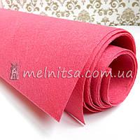 Фетр жесткий 1 мм, лист 50х40 см, ярко-розовый (Китай)