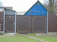 Ковані ворота В-62, фото 1