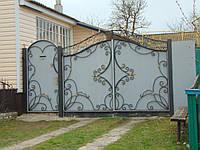 Кованые ворота В-64, фото 1