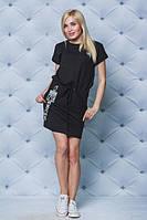 Стильное женское платье черное, фото 1