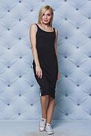Платье-майка летнее черное. Большие размеры!!