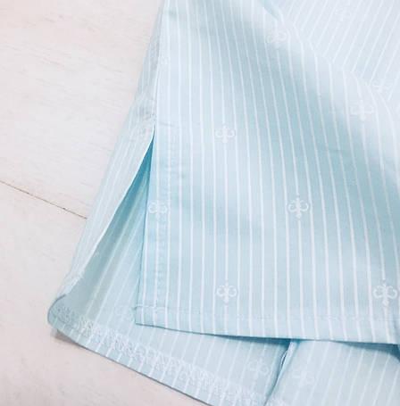 Хлопковая пижама шорты рубашка, фото 2