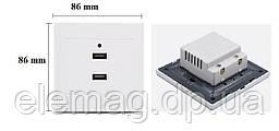 Розетка настенная на 2 порта USB
