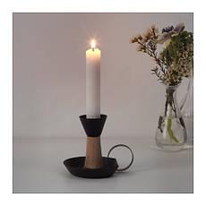 ЭНДЛЁС Подсвечник, черный, коричневый, 9 см, 60327298, IKEA, ИКЕА, ANDLOS, фото 3