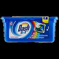 Капсули для прання кольорової білизни Dash Salva Color 3 в 1 30 шт