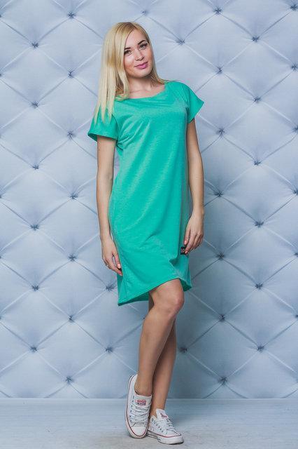 Платье свободного кроя мята