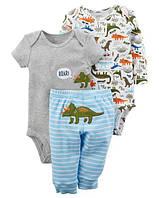 Детскийкомплект из трех вещей для малыша, боди, штаники Carter's, 18М