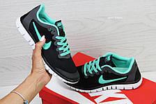 Жіночі кросівки літні Nike Free Run 3.0 чорні 37р, фото 3