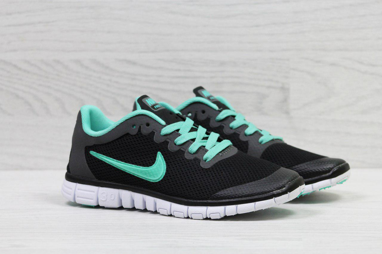 Жіночі кросівки літні Nike Free Run 3.0 чорні 37р