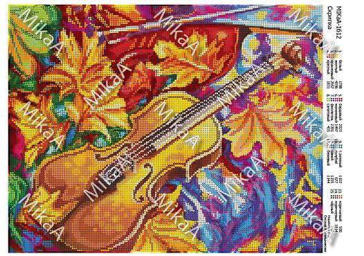 """Схема для полной зашивки бисером - """"Скрипка"""" А3"""