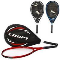 Теннисная ракетка алюм, 25дюйма